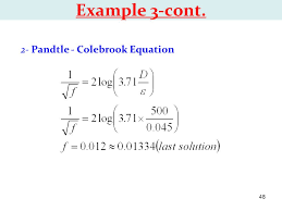 2 pandtle colebrook equation chapter 1 water flow in pipes ppt