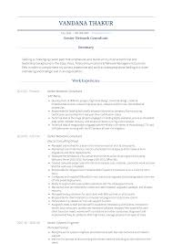 Network Consultant Resume Samples Templates Visualcv