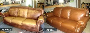 leather furniture dye kit before after slide dyeing couch repair sofa comi leather couch color