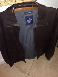 nautica real leather jacket great condition for in pembroke pines fl offerup