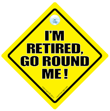 Im Retired Go Round Me Car Sign Retirement Sign Baby On Board