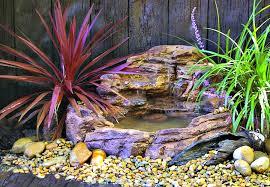 small backyard garden waterfall pond kit swp 008
