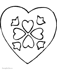 Small Picture Printable Valentine hearts coloring pages 041