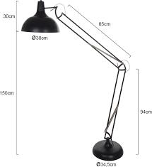 Robuuste Staande Lamp Lumidem Office Magna Zwart 180 Cm