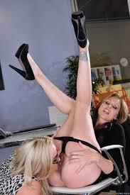 Slutty Blonde Secretary Fingered In The Office photos Julia Ann.
