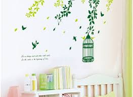 100 brand new birdcage wall art vinilo wall stickers for kids