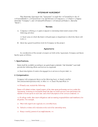 internship agreement non technical human resources letters internship agreement non technical
