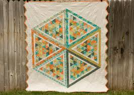 100 Days – Week of Shapes – Featured Quilt 1   The Modern Quilt Guild & Back of Hexagons by Kati Spencer Adamdwight.com