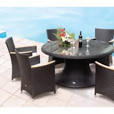 ... Table Round Outdoor Dining Set Sets Teak Tables Modern Seats Exquisite  Table Photo All Weather Wicker