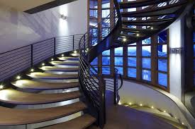 spiral staircase lighting. Contemporary Staircase Hardwood Floor Spiral Lighting