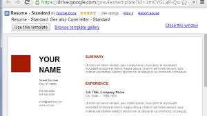 google docs resume use google docs resume templates for a free good looking resume