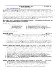 Cfo Resume Credit Controller Resume Examples Sample Financial Executive Cfo 12