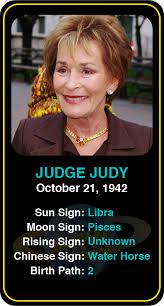 Judge Judy Birth Chart Celeb Libra Birthdays Judge Judys Astrology Info Sign Up