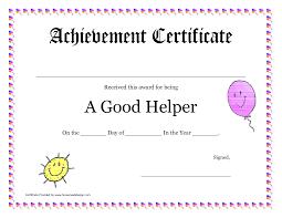 Printable Awards And Certificates Printable Award Certificates For Teachers Good Helper Printable