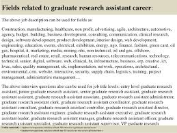 17 fields related to graduate research assistant cover letter for research assistant position