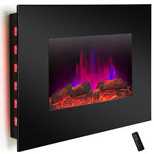 com akdy 36 led wall mount electric fireplace modern