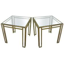 brass and glass end tables pair billy brass and glass end tables ca pair of billy brass and glass end tables