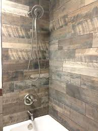 wood look tile showers wood inspired shower tiles from flip or flop western decor flipping and wood look tile