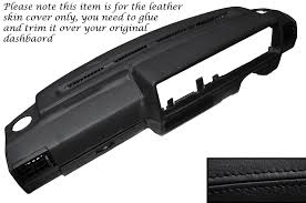 details about black leather dash dashboard skin cover fits vw golf mk2 ii jetta 83 92