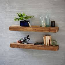 Raw Wood Floating Shelves Stunning Reclaimed Wood Floating Shelf West Elm