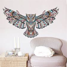s creative cartoon wall stickers owl home decoration waterproof removable decal