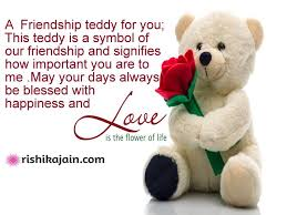 A Friendship Teddy For YouHappy Teddy Bear Day Inspirational Gorgeous Inspirational Valentines Day Quotes For Friends