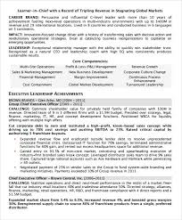 Executive Resume Templates Cool 48 Executive Resume Templates Samples Examples Format Sample