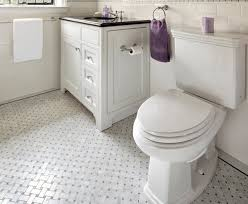Delighful White Tile Bathroom Flooring One Million Ideas With Innovation Design