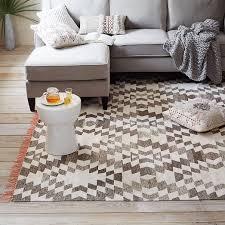 clever design west elm kilim rug palmette chenille wool iron alternate image tile