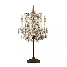 rh 19th c rococo iron crystal table lamp