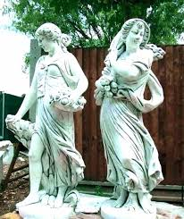 concrete yard statues garden large animal ornaments for angel uk