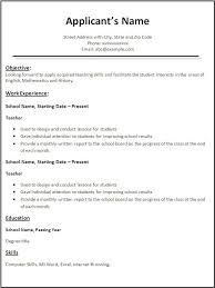Resume Templates Word Free Download Teacher Template All Best Cv