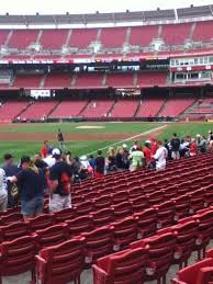 Great American Ball Park Section 110 Row L Home Of