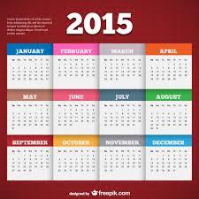 2015 Calendar Template Vector Free Download