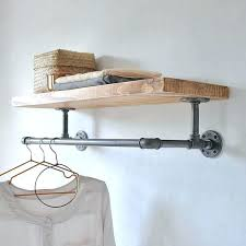 wall mounted clothes rail hanging