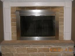 fireplace doors brushed nickel for modern concept here are an old set of doors notice the