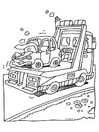 Kleurplaten Vrachtwagen Met Kraan Baumaschinen 10 Gratis Malvorlage