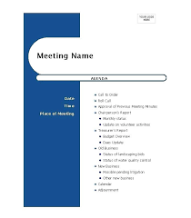 Meeting Agenda Examples Templates – Nortetic