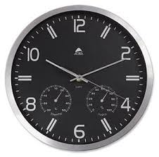 office wall clock. alba weather wall clock quartz with temperature and hygrometer office