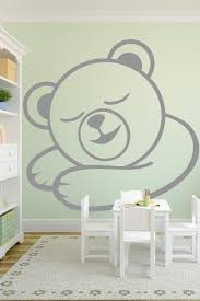 alternative views  on teddy bear wall art for nursery with baby wall decals sleepy bear walltat art without boundaries