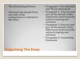 a brief overview to writing a comparison contrast essay ppt organizing the essay the alternating pattern