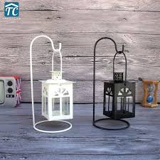 romantic style metal wall hanging votive candle holder wedding candlestick lantern decorative holders set