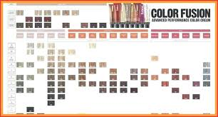 Redken Cover Fusion Colour Chart Best Picture Of Chart