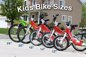kids bike sizes use our easy guide and