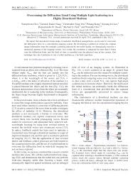 Light Diffraction Limit Pdf Overcoming The Diffraction Limit Using Multiple Light