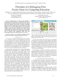 Hcc Game Design Pdf Principles Of A Debugging First Puzzle Game For