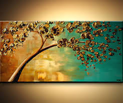 awesome abstract tree paintings canvas
