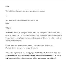 Letter Of Understanding Template Word Sample Memo Employees Issue New Employee Template Functional
