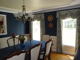 navy blue dining room with classic american chandelier old s