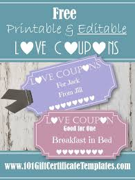 Make A Printable Coupon Free Editable Love Coupons For Him Or Her